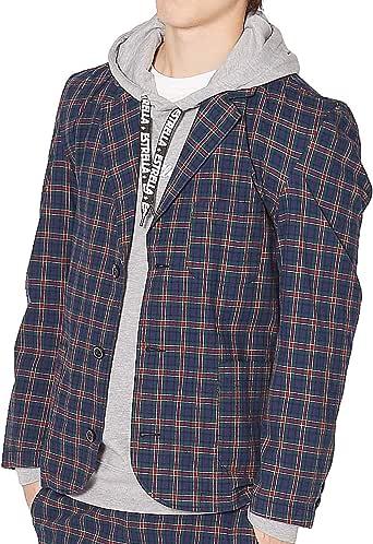 Improves 西装外套 格子花纹西装外套 男士 50079 蓝色 日本 L (日本サイズL相当)