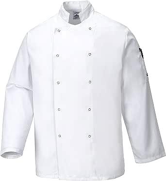 Portwest Men's Chef Jacket, M, White