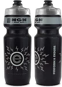 NGN Sport - 高性能自行车 | 自行车水瓶适用于铁人三项、MTB 和公路自行车 - 24 盎司(2 只装) 24 oz 灰色 ES171117