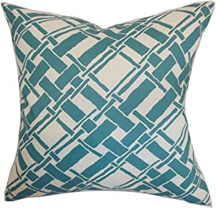 The Pillow Collection Rygge Bamboo Pillow, Aqua