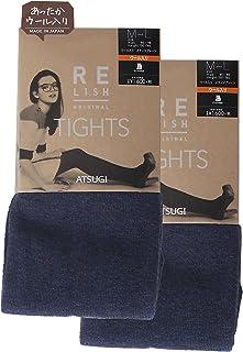 ATSUGI 厚木 连裤袜 RELISH ORIGINAL 混羊毛 混色连裤袜 相当于450D 〈2双装〉 蓝色 M-L