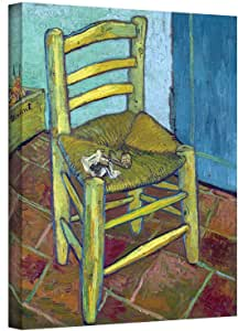 ArtWall Vincent Vangogh's Vincent's Chair, Gallery Wrapped Canvas, 24 by 32-Inch