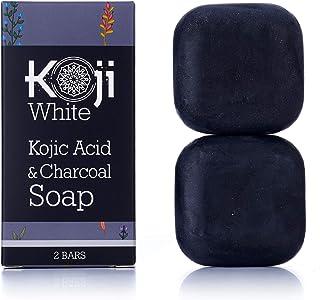 Kojic 酸和木炭黑肥皂(2.82 盎司/2 条)- 祛*、黑斑、*、*、瑕疵肌肤