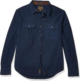 Lucky Brand 男式长袖纽扣*蓝 Humbolt 工作服衬衫