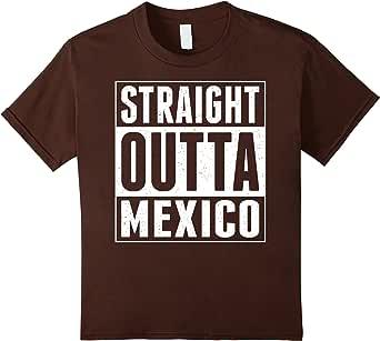 Straight Outta Mexico TShirt 棕色 Kids 8
