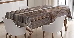 桌布带 ambesonne ,餐厅厨房矩形桌布