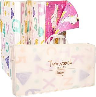 Unicorn Baby 游戏垫,可反穿婴儿折叠垫,不含双酚 A,XPE 垫子,婴儿爬行垫,*防水泡沫垫,儿童学步儿童便携式室内使用矩形 78x61x0.4 英寸