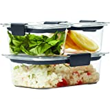 Rubbermaid 6 Piece Brilliance Food Storage Container, Clear