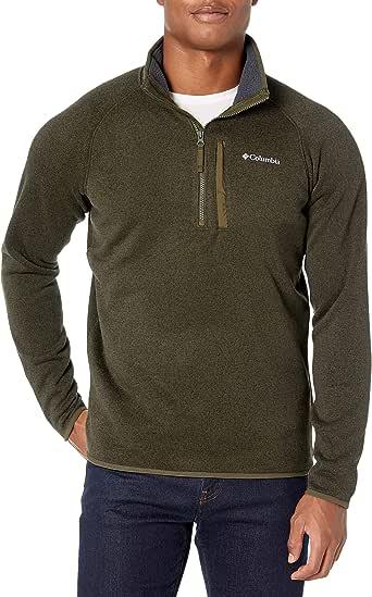 Columbia 男士 Canyon Point 羊毛衫 1/2 拉链,柔软羊毛,经典款
