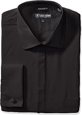 "STACY ADAMS 男士大加长 39000 纯色正装衬衫 黑色 18"" Neck 38""-39"" Sleeve"