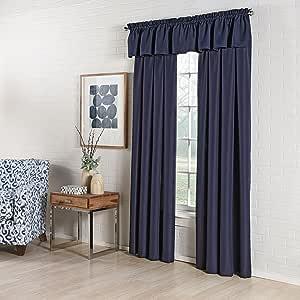 Lorraine 家居时尚罗纹定制窗帘面板,139.70 x 160.02 cm,蓝色