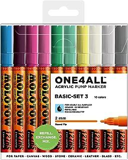 Molotow ONE4ALL 丙烯酸记号笔套装 2mm 10 Basic Colors #3