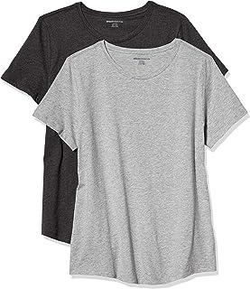 Amazon Essentials 女士标准2件装 * 纯棉休闲短袖圆领 T 恤