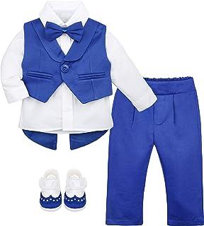 Lilax 男婴绅士燕尾服套装 4 件套