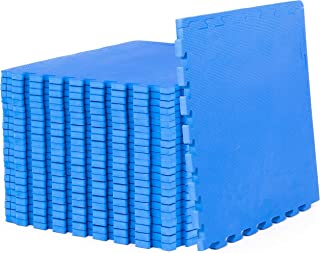 "Prosource Fit 超厚拼图运动垫 3⁄4"" 和 1"",EVA 泡沫互锁片,保护性强,缓冲性锻炼地板,适用于家庭和健身房设备"