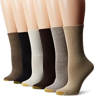 GOLD toe 女式6件装罗纹船袜