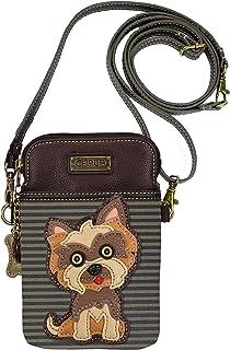 Chala Yorkshire Terrier Cellphone Crossbody Handbag - Convertible Strap