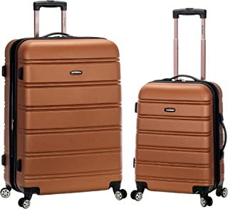 Rockland Luggage 20 Inch and 28 Inch 2 Piece Expandable Spinner Set 棕色 均码