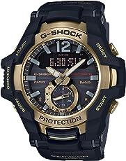 CASIO G-Shock GR-B100GB-1AJF GRAVITYMASTER 黑色和金色系列太阳能手表(日本国内正品)