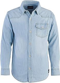 Calvin Klein 男孩大长袖牛仔衬衫