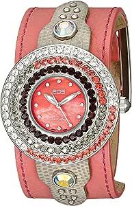 EOS New York 女式 93LRED Safire 施华洛世奇风格手表