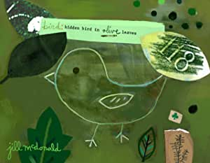 Oopsy daisy Green Bird Stretched Canvas Wall Art by Jill McDonald, 9 by 7-Inches