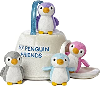 Aurora World 婴儿说话背带,我的企鹅朋友玩具套装