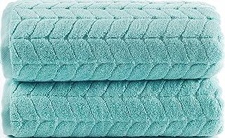 Bagno Milano Luxe 系列土耳其毛巾,* 土耳其棉,速干豪华毛绒毛巾,土耳其制造 浅* 2 pcs Bath Towel Set