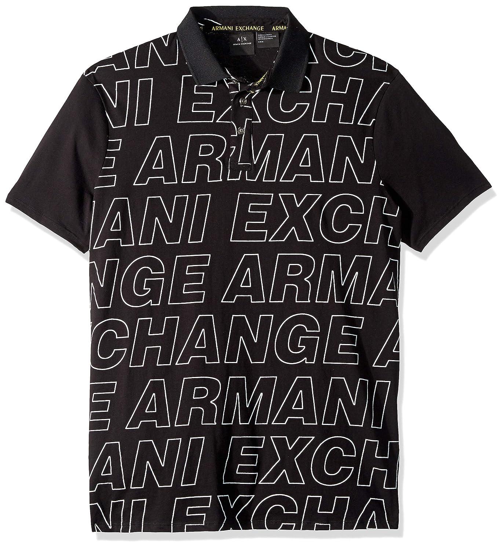 Armani Exchange 阿玛尼 Graphic Logo 男Polo衫