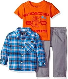 Lee Toddler Boys' Baby State Champs Flannel Shirt 3 Piece Pant Set