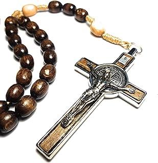 意大利念珠祝福 Pope Francis Vatican 罗马圣父勋章十字架圣本特特守护者儿童肾病病农场工人诱惑和死亡 棕色