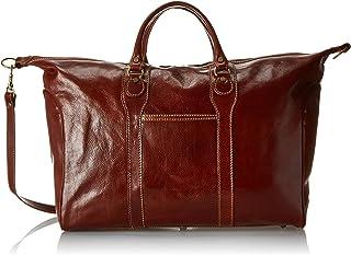 Floto Chianti Italian Calfskin Leather Duffle Bag, Vecchio Brown, One Size