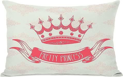Bentin 家居装饰 Bella 芭蕾舞人抱枕 OBC Pretty Princess - Cream Pink Coral 14x20 Pillow 12465PL42