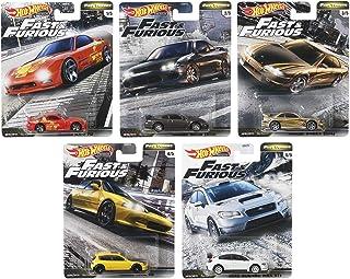 Mattel HOT WHEEL WILD SPEED PREMIUM 风火轮汽车模型混合装 FAST TUNERS 2020 Mix1 迷你车 10台装 盒装销售 GBW75-986F 日产Silvia(2台)日产240SX(2台)马自达RX-7(2台)斯巴鲁WRX-STI(2台)本田思域EG(2台)