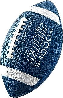 Franklin Sports 青少年尺寸橄榄球 - Grip-Rite 青少年足球 - Extra Grip 合成皮革,非常适合儿童 - 蓝色和白色