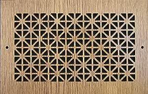 图案切割木格栅:1608 用于壁挂式(厘米)= 40.64cm x 20.32cm,整体尺寸 (厘米)= 44.45cm x 23.49cm,橡木图案 B