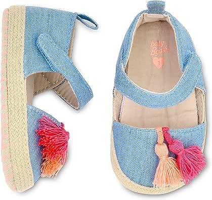 OshKosh B'Gosh 女孩流苏帆布婴儿鞋蓝色 3-6 个月