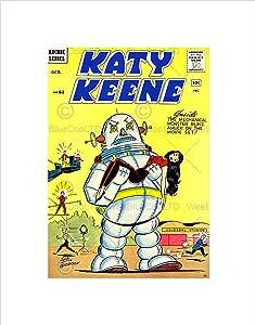 漫画女孩 KATY KEENE 1961 全新黑色框架艺术版画 B12X10663 印花 12x16 Inches B12X10663_UNFRAMED