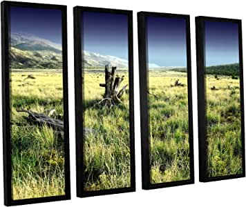 ArtWall 4 Piece Mark Ross's Fall Creeps Floater Framed Canvas Set, 36 x 48""
