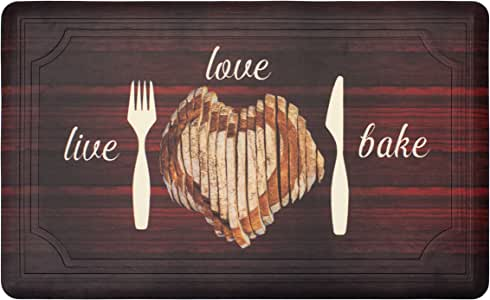 "Chef Gear Tablet Live Love Bake 凝胶垫 红色 20 x 39"" YMK008419"