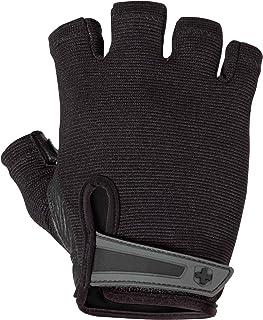 Harbinger男士举重手掌皮革手背弹性手套