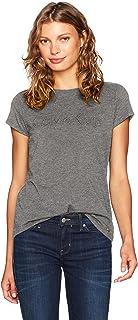 Calvin Klein 女式短袖 T 恤带中间标志