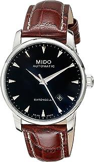 MIDO 男式模拟自动手表带皮革表带 - M86004188