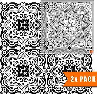 Evora 瓷砖家具墙壁地板瓷砖模板用于绘画| 可定制尺寸 45 cm