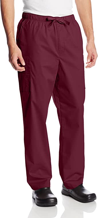 Cherokee Workwear Scrubs Men's Stretch Utility Pant 葡萄酒色 X-S