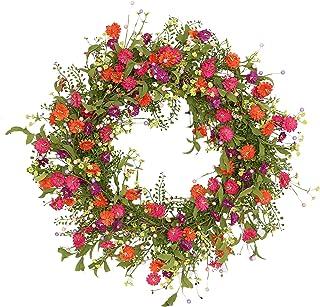 Puleo 跨国雏菊花环,紫色,粉色,红色,风琴,黄色,*