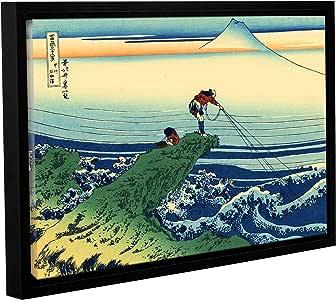 "ArtWall Katsushika Hokusai's Kajikazawa in Kai Province Gallery Wrapped Floater-Framed Canvas Artwork, 24 x 36"""