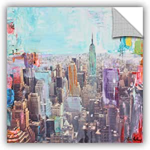 "ArtWall Jolina Anthony's Vibrant Skyline Removable Wall Art Mural, 36""x 36"""