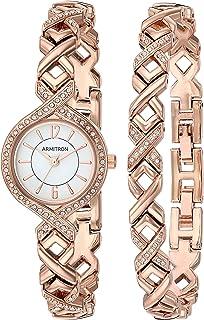 Armitron 女式 75/5412 施华洛世奇水晶点缀手表和手链套装