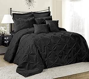 8件 lucilla 床上用品套装盖被件加大双人床大号双人床 CAL .大号双人床